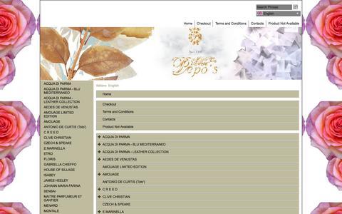 Screenshot of Site Map Page Menu Page profumeriapepos.eu - Mappa - captured Dec. 18, 2016