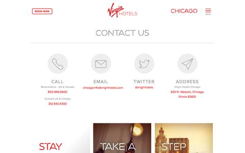 Screenshot of Contact Page virginhotels.com - Contact Us - Virgin Hotels Chicago - captured Oct. 29, 2014