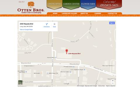 Screenshot of Maps & Directions Page ottenbros.com - Map - Otten Bros. - captured Oct. 7, 2014