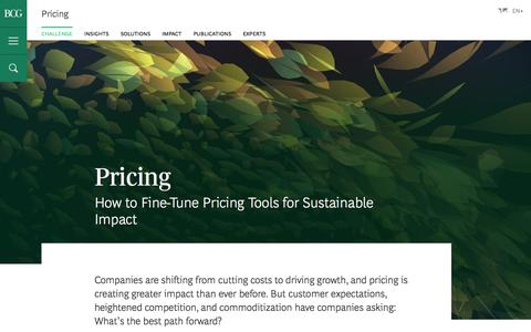 Screenshot of Pricing Page bcg.com - Pricing Consulting - Choosing a Profitable Pricing Strategy - captured Jan. 27, 2017