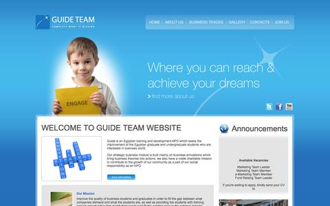 Screenshot of Home Page guide-team.com - Guide Team | Complete what is missing - captured Sept. 30, 2014