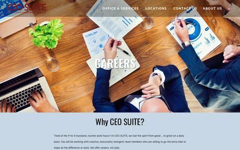 Screenshot of Jobs Page ceosuite.com - Careers | CEO SUITE - captured July 14, 2018