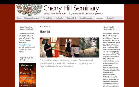 Screenshot of About Page cherryhillseminary.org - About Us - captured Nov. 4, 2018
