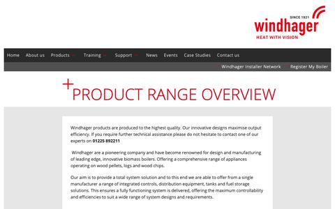 Screenshot of Products Page windhager.co.uk - Windhager UK :: Product Range Overview - captured Oct. 18, 2018