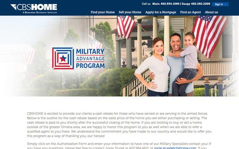 Screenshot of Maps & Directions Page cbshome.com - Military Advantage Program | Search for all MLS listings in the Omaha, NE area. - captured June 27, 2017