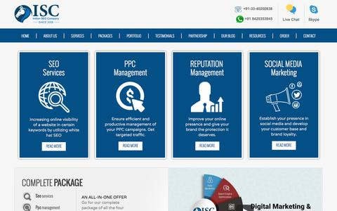 Screenshot of Home Page indian-seo-company.com - SEO Company India Offers SEO Services in India At Affordable Rates from Indian SEO Company - captured Sept. 13, 2018