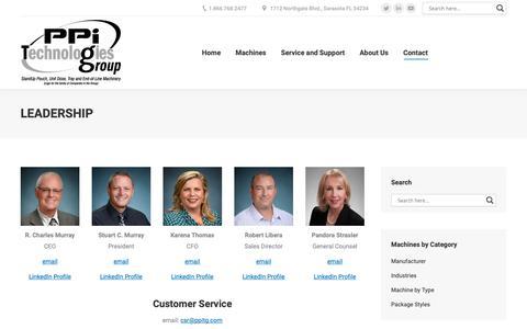 Screenshot of Team Page ppitechnologies.com - Leadership - PPiTG - captured Dec. 13, 2018
