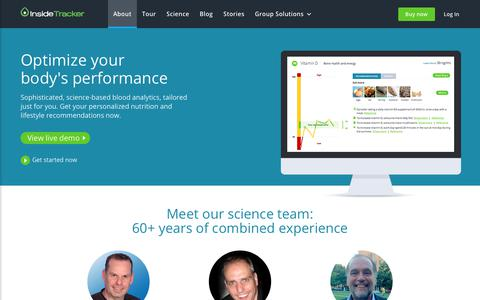 InsideTracker's expert team: scientists, physicians, exercise physiologists, nutritionists