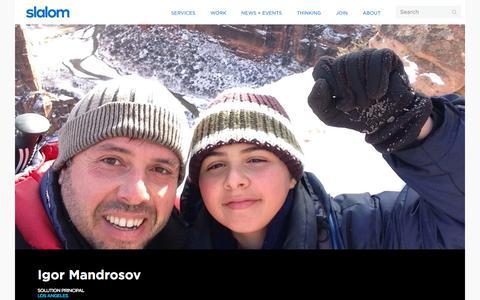 Screenshot of Team Page slalom.com - Igor Mandrosov | Slalom - captured Jan. 20, 2018