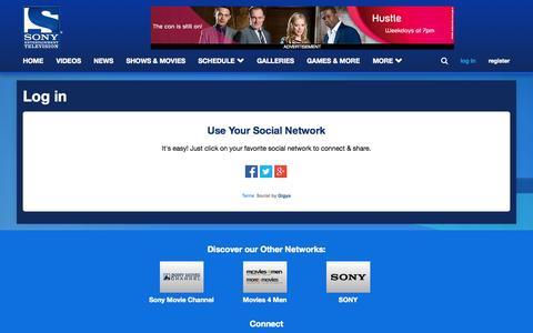 Screenshot of Login Page sonytv.com -   Sony Entertainment Television, United Kingdom - captured Nov. 3, 2014