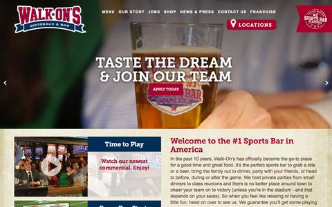 Screenshot of Home Page walk-ons.com - Home | Walk-On's Bistreaux & Bar - captured Oct. 6, 2014