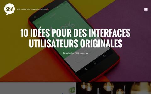 Screenshot of Blog agence-sba.com - Blog Agence SBA � Webmarketing, site Internet, mobile, actualit� web - captured Nov. 14, 2015
