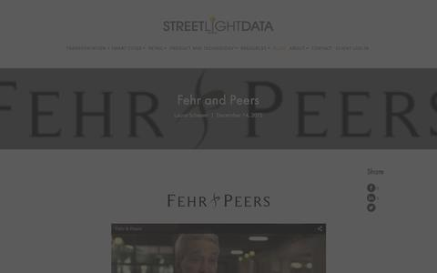 Screenshot of Case Studies Page streetlightdata.com - Fehr and Peers - captured Dec. 23, 2015