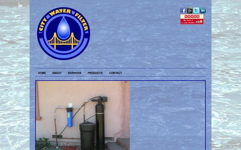 Screenshot of Services Page citywaterfilter.com - City Water Filter - captured Oct. 2, 2014