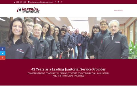 Screenshot of Home Page impservsys.com - Imperial Service Systems   Janitorial Service, Lombard, Illinois - captured Feb. 10, 2016