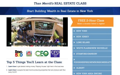 Screenshot of Landing Page fortunebuilders.com - Than Merrill's Real Estate Class - captured Aug. 25, 2016