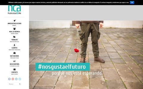 Screenshot of Home Page ncayasociados.com - NCA y Asociados. Agencia de publicidad y Marketing - captured Feb. 22, 2016
