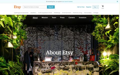 Screenshot of About Page etsy.com - About Etsy - captured July 13, 2016