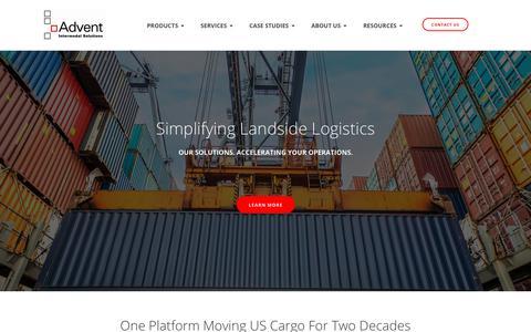 Screenshot of Home Page adventintermodal.com - Advent Intermodal Solutions | Transportation Logistics Software Provider - captured Oct. 3, 2018
