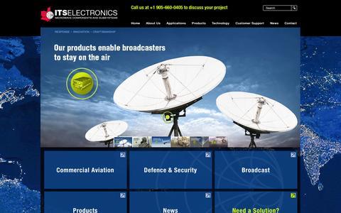 Screenshot of Home Page itselectronics.com - ITS Electronics - captured Sept. 30, 2014