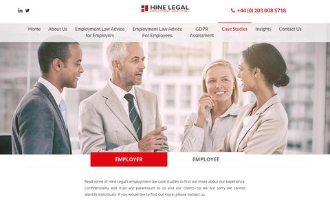 Screenshot of Case Studies Page hinelegal.com - Case Studies - Hine Legal - captured Nov. 5, 2018