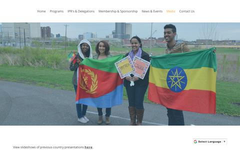 Screenshot of Press Page cipcolumbus.org - Media - captured Sept. 29, 2018