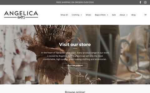 Screenshot of Home Page shopangelica.com.au - Women's clothing, shoes, accessories and gifts. – Angelica - captured Oct. 8, 2017