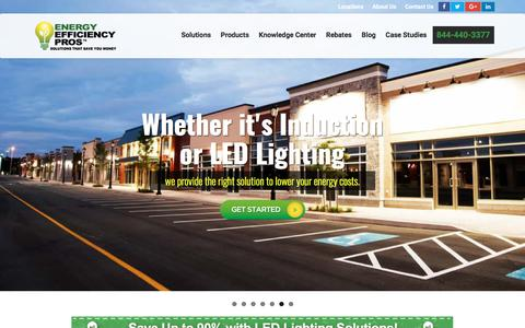 Screenshot of Home Page eepros.com - Commercial LED Lighting Scottsdale :: LED Lighting Dealer Scottsdale, AZ - captured Aug. 8, 2017
