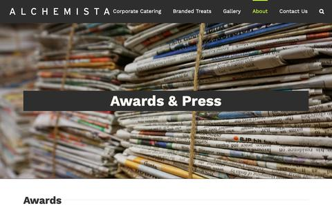 Screenshot of Press Page alchemista.com - Awards & Press | Alchemista - captured Dec. 4, 2018
