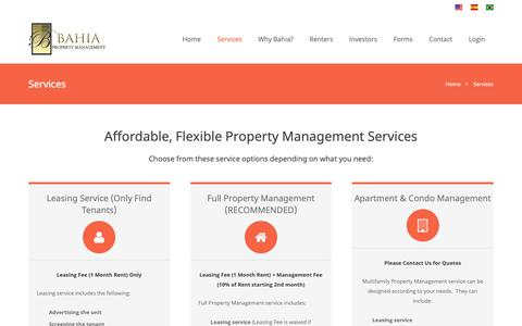 Screenshot of Services Page miami-propertymanagement.com - Miami Property Management Services - captured Oct. 31, 2018