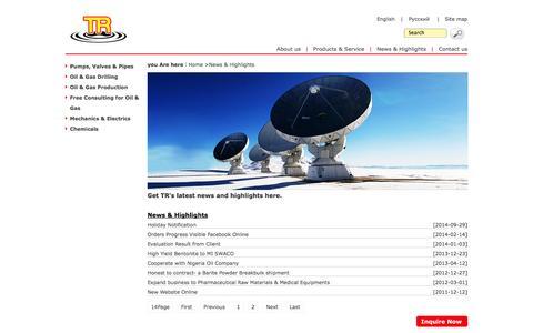 Screenshot of Press Page timerolling.com - News & Highlights-Supplier-Timerolling - captured Oct. 7, 2014