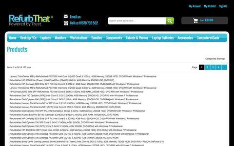 Screenshot of Site Map Page refurbthat.com - Site Map | RefurbThat - captured July 6, 2016