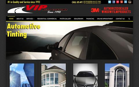 Screenshot of Home Page vipcenters.com - VIP Auto Customs - #1 in Quality and Services since 1993 - captured Nov. 29, 2016