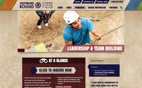 Screenshot of Team Page outwardboundcostarica.org - Leadership Team Building | Outward Bound Costa Rica - captured Jan. 3, 2017