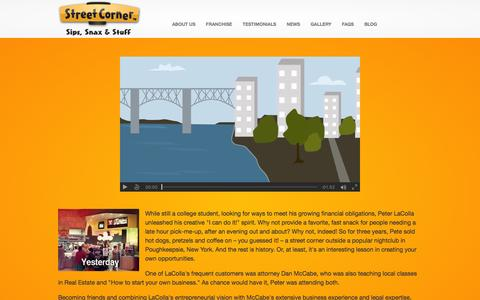 Screenshot of About Page streetcorner.com - About Us | Street Corner Franchise ™ - captured Feb. 25, 2016