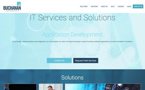 Screenshot of Home Page buchanan.com - Home - Buchanan Technologies - captured Aug. 28, 2016