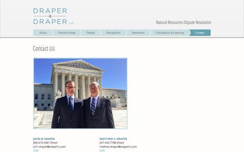 Screenshot of Contact Page draperllc.com - Contact Us | Draper & Draper LLC - captured Nov. 24, 2016