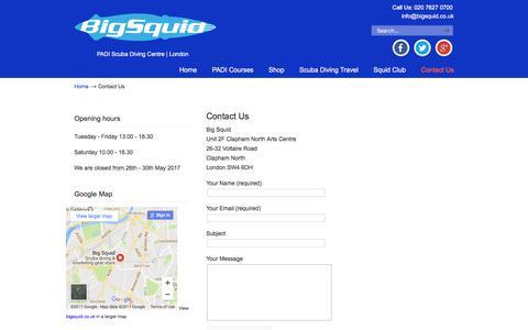 Screenshot of Contact Page bigsquid.co.uk - Contact Us - Big Squid - captured June 3, 2017