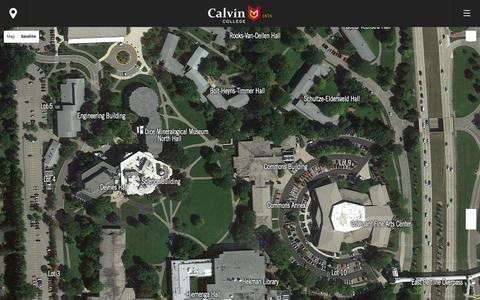 Screenshot of Maps & Directions Page calvin.edu - Map - Calvin College - captured Oct. 15, 2015