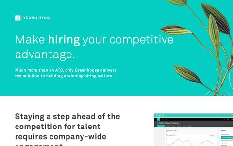 Recruiting Software & Applicant Tracking System | Greenhouse