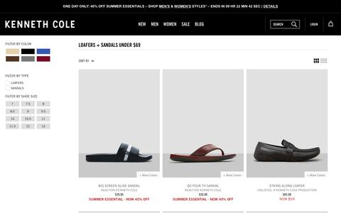 Loafers + Sandals Under $69 | Kenneth Cole