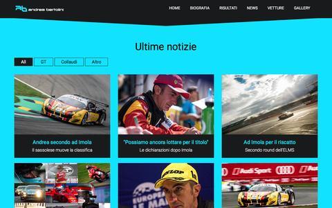 Screenshot of Press Page andreabertolini.it - Andrea Bertolini | Professional driver - captured June 4, 2016