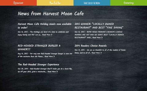 Screenshot of Press Page myharvestmooncafe.com - Harvest Moon Cafe News from Harvest Moon Cafe • Rome, GA restaurant - captured Jan. 26, 2016