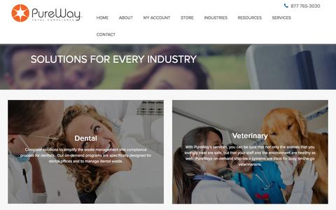 Screenshot of Services Page pureway.com - Products & Services - PureWay - captured Sept. 19, 2017