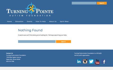 Screenshot of Testimonials Page turningpointeautismfoundation.org - Testimonials   Turning Pointe Autism Foundation - captured Sept. 21, 2018