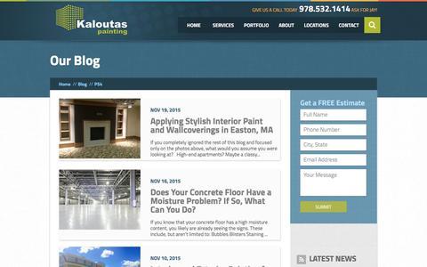 Screenshot of Blog kaloutas.com - Blog | Kaloutas Painting - captured April 19, 2017