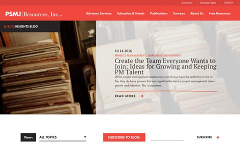 Screenshot of Blog psmj.com - PSMJ Resources Blog - captured Oct. 15, 2016