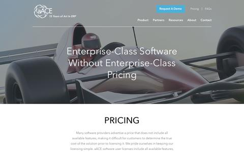 Screenshot of Pricing Page aacesoft.com - Pricing - aACEsoft - captured Oct. 4, 2018