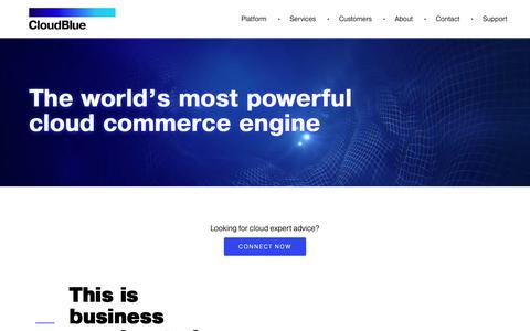Screenshot of Home Page cloudblue.com - CloudBlue - captured Sept. 28, 2018