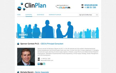 Screenshot of Team Page clinplan.com - ClinPlan - captured Sept. 30, 2014